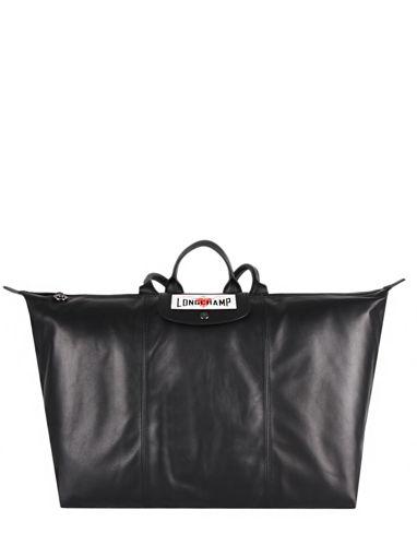 Longchamp Cascading logo Backpack Black
