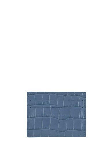 Longchamp Le pliage cuir croco Bill case / card case Blue