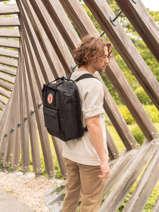 """Backpack Kånken 1 Compartment + Pc15"""" Fjallraven Black kanken 27172"""