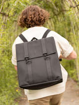 Boston Backpack 1 Compartment + 15'' Pc Rains Black backpack 1213