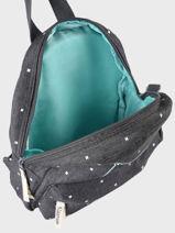 Backpack Bear 1 Compartment Kidzroom Gray starstruck 9810-vue-porte