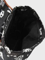 Backpack Kidzroom Gray black and white 30-8177-vue-porte