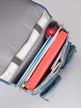 Wheeled Schoolbag For Boys 2 Compartments Cameleon Gray vintage urban CR38-vue-porte