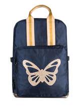"Backpack 1 Compartment + Pc 15"" Caramel et cie Blue fille LBP06-F"