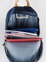"""Backpack 1 Compartment + Pc 15"""" Caramel et cie Blue fille LBP06-F-vue-porte"""