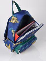 Mini Backpack Belle Rentrée Belle Rentree Gars Caramel et cie Blue belle rentree gars G-vue-porte