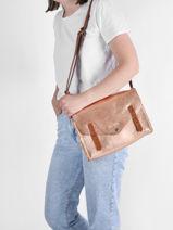Shoulder Bag Vintage Leather Paul marius Pink vintage INDISPEN-vue-porte