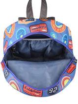 Backpack 1 Compartment Gars Caramel et cie Blue gars G-vue-porte