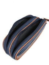 Pencil Case For Kids 2 Compartments Cameleon Blue vintage chine VIN-TROU-vue-porte
