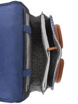 Wheeled Schoolbag 2 Compartments Cameleon Blue vintage urban PBVBCR38-vue-porte