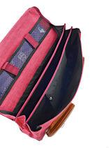 Satchel For Kids 3 Compartments Cameleon Pink vintage chine VIN-CA41-vue-porte