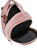 Backpack For Kids 2 Compartments Cameleon Pink retro REV-SD31-vue-porte
