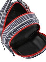 Backpack For Kids 2 Compartments Cameleon Blue retro REV-SD31-vue-porte