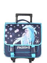 Wheeled Satchel 2 Compartments Frozen Blue flocon 18GLAC