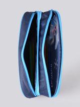 Pencil Case 2 Compartments Frozen Blue flocon GLAC-vue-porte