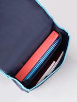 Satchel 2 Compartments Frozen Blue flocon 13GLAC-vue-porte