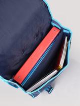 Cartable A Roulettes 2 Compartiments Frozen Blue flocon 18GLAC-vue-porte