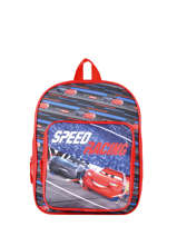 Sac A Dos 1 Compartiment Cars Rouge speed 7CENTR