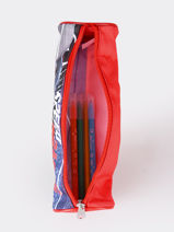 Pencil Case 1 Compartment Cars Red speed 1CENTR-vue-porte