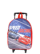 Wheeled Backpack 1 Compartment Cars Red speed 4CENTR