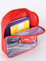 Backpack 1 Compartment Cars Red speed 3CENTR-vue-porte