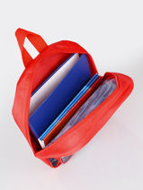 Backpack 1 Compartment Cars Red speed 7CENTR-vue-porte