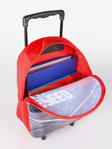 Wheeled Backpack 1 Compartment Cars Red speed 4CENTR-vue-porte
