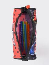 Pencil Case 1 Compartment Miraculous Red lady bug 1633-vue-porte