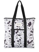 Sac Shopping A4 Mickey Mouse Mickey and minnie mouse Gris fashion 2033