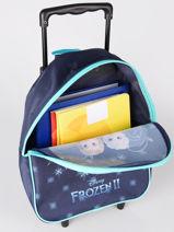 Sac A Dos A Roulettes 1 Compartiment Frozen Bleu flocon 4FLOC-vue-porte