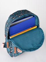 Backpack Attitude 1 Compartment Kidzroom Blue attittude 1550-vue-porte