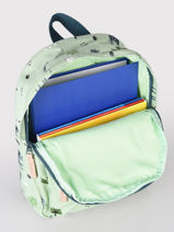 Backpack Giraffe 1 Compartment Kidzroom Green mini 985-vue-porte