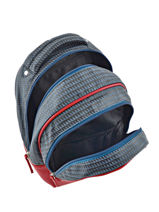 Backpack For Kids 2 Compartments Cameleon Red retro RET-PRI-vue-porte