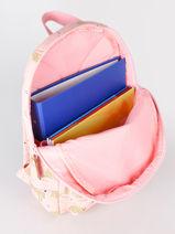 Backpack Cuddle 1 Compartment Kidzroom Pink cuddle 94-vue-porte