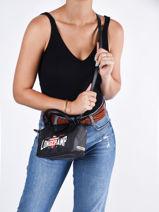 Longchamp Cascading logo Handbag Black-vue-porte