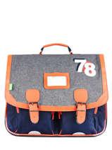 Satchel 2 Compartments Tann's Blue fantaisie garcon 41156