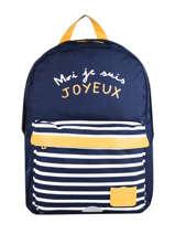 Backpack 1 Compartment Tann's Blue la joyeuse collab 62192