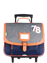 Wheeled Backpack 2 Compartments Tann