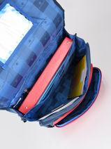 Cartable A Roulettes 2 Compartiments Snowball Bleu legend 75838R-vue-porte