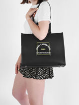 Sac Shopping Rue St Guillaume Patch Karl lagerfeld Noir rsg patch 215W3070-vue-porte