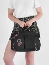 Nylon K/ikonik Travel Bag Karl lagerfeld Black k ikonic 215W3018-vue-porte