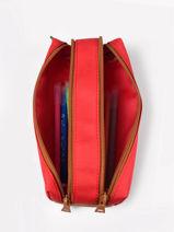 2 Compartments Pencil Case Tann