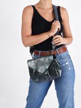 Small Leather Suzon Crossbody Bag Paul marius Pink vintage M-vue-porte