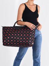 Longchamp Been a champ a long time Travel bag Black-vue-porte