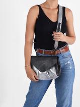 Leather Suzon Argento Crossbody Bag Paul marius Black argento SUZMARG-vue-porte