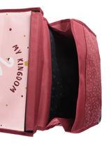 Cartable 2 Compartiments Réversible Pol fox Rouge fille FCA38R-vue-porte