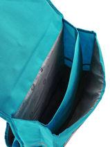 Satchel 2 Compartments Pol fox Blue fille F-CA38-vue-porte