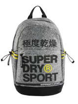 Backpack 1 Compartment Superdry Gray backpack men MS4100JU