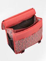 Cartable à Roulettes 2 Compartiments Réversible Pol fox Rose fille FTCA38R-vue-porte