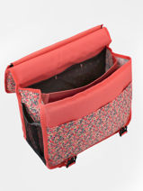 Wheeled Schoolbag 2 Compartments Reversible Pol fox Pink fille FTCA38R-vue-porte
